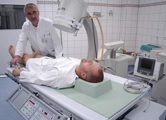 Сеанс лучевой терапии при раке простаты